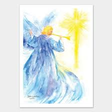angel and star watercolor christmas card set watercolor