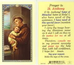 anthony prayer for lost items yahoo image search results