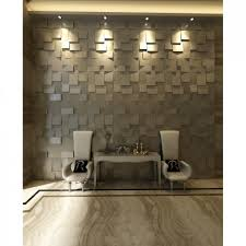Interior Wall Lining Panels Wall Feature Elegant Brown Grayish Interior Decor With 3d Cube