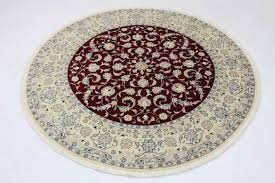 Round Red Rug Nain Rug Round Red White In 200x200 5120 11864 Buy Online At