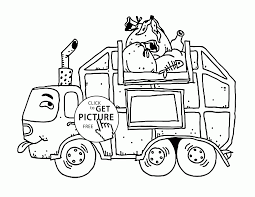 dirty garbage truck coloring page for kids transportation