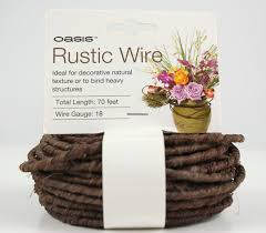 brown floral wire rustic wire 18 brown 70