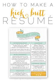 Best Resume To Get Hired by How To Make A Kick Resumé Whitney Blake Design Color And