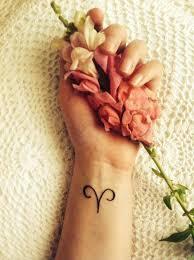 small aries sign tattoo ink u2026 pinteres u2026