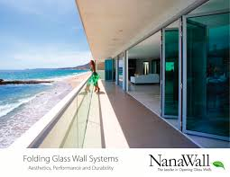 Glass Wall Design by Folding Glass Wall Systems Nanawall Pdf Catalogues