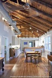 cathedral ceiling with exposed ducts lakehouse pinterest