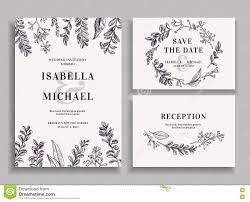 Wedding Invitations And Reception Cards Invitation Save The Date Reception Card Stock Vector Image