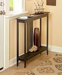 space saving end table amazon com the lakeside collection slim space saving accent table