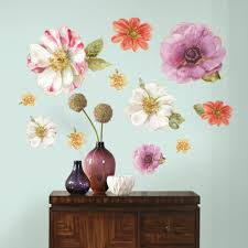 flowers wall decals and room decor product directory roommates lisa audit blossom giant wall decals