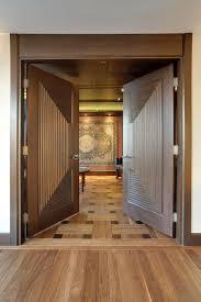 Interior Doors Solid by Interior Door Custom Double Solid Wood With Walnut Finish