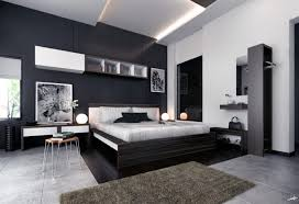 bedroom appealing black and white modern bedroom