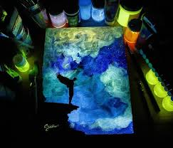 glow in the glow in the paint reveals surprises in paintings when lights