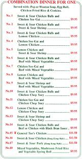 No One Kitchen by China Kitchen Eatery Takeout Menu Page 1 Does Takeout