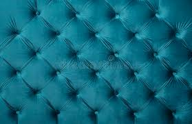 Turquoise Velvet Fabric Upholstery Blue Teal Capitone Tufted Fabric Upholstery Texture Stock Photo