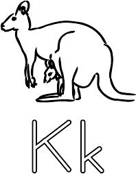 clipart k is for kangaroo