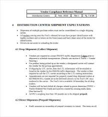 sample shipping manual template writing a standard operating