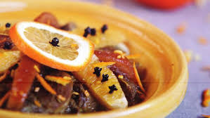 le tajine à la viande aux oranges et au safran de la maison arabe