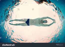 Inside Swimming Pool by Underwater Man Inside Swimming Pool Below Stock Photo 204262762