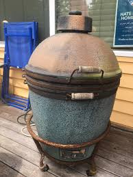 scored a free big green egg i think it u0027s a large bbq