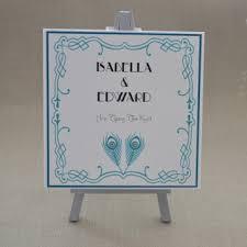 art deco wedding invitation and stationery sets
