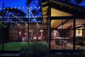 Sunroom Austin Austin Rustic Outdoor Lighting Exterior Eclectic With Glass Wall