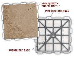 floating porcelain tile system from snapstone