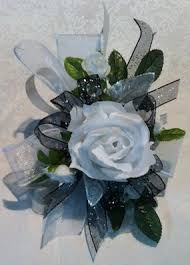 Black And White Corsage White Rose Corsage With Black Accents In Cleveland Oh Orban U0027s