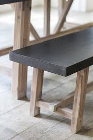 Dining Room Tables Bench Seating Decor Stunning Chilson Cement Fibre Dining Table Bench Seat Set