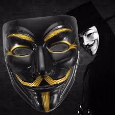 Anonymous Halloween Costume Black Anonymous Mask Vendetta Guy Halloween Men Sale