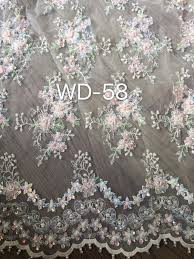 top quality 3d flower applique lace french net lace african