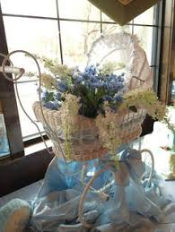 wire baby carriages for baby shower table decorations centerpiece