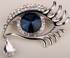 eye teardrop brooch pin for austrian jewelry gifts