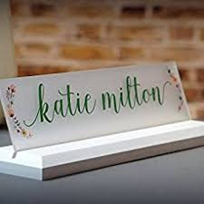 Cheap Desk Name Plates Amazon Com Desk Name Plate Personalized With Your Name And Title