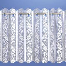 pleated vertical blind white net curtain heavy thick floral print
