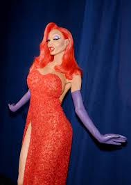 how heidi klum transformed into jessica rabbit for halloween allure