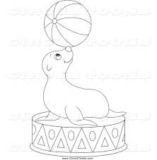 sea lion clipart black and white clipartxtras