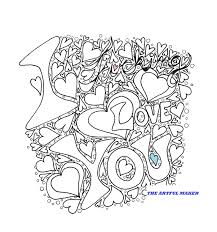 i fucking love you coloring page by the artful maker