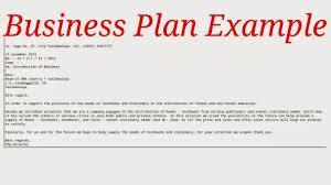 plan format free example