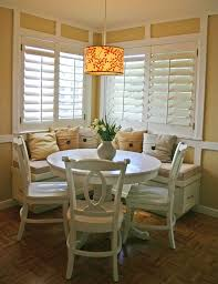 circle table that gets bigger dining nook table creative dining breakfast nooks breakfast nook