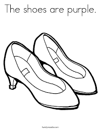 coloring page shoes cute coloring