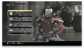 all epic rig armor wip infinitewarfare