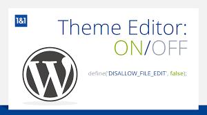 enabling the wordpress theme and plugin editor 1 u00261 community