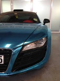audi r8 chrome blue may car of the month audi r8 in ice blue chrome and black design