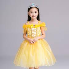 Halloween Costume Belle Kid Princess Belle Dress Beauty Beast Halloween