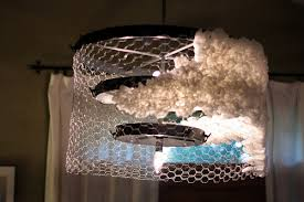 Chicken Wire Chandelier Sprucing Up With Coffee Filters Artsy Crafty Babe
