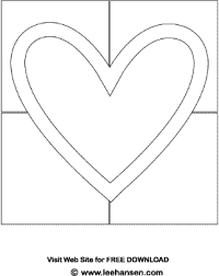Valentine Heart Quilt Block Coloring Page Quilt Block Coloring Pages