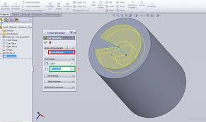 how to use solidworks revolved cut feature
