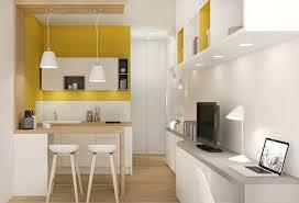 studio cuisine une cuisine ouverte sur le salon décoré de façon nordique c est