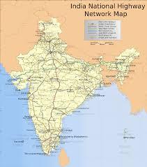 Map India India National Roads Map U2022 Mapsof Net
