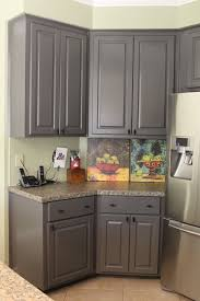 Stain Kitchen Cabinets Darker Grey Stained Kitchen Cabinets Trends With Picture Dark Refinishing